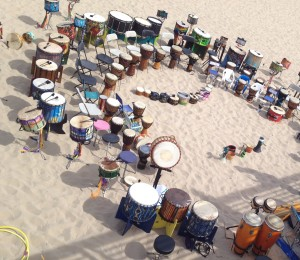 beach drums
